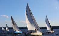 Sailboats on the St .Croix River