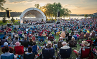 A crowd gathers to see the Minnesota Orchestra at Hudson's Concerts in the Park series at Lakefront Park