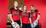 Members of the Stillwater Area High School softball team