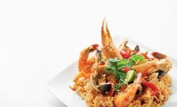 Seafood &  chorizo paella from The Global Chef