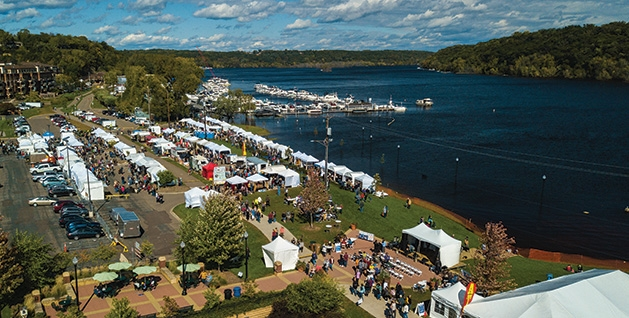 A overhead view of the Rivertown Fall Art Festival 2019