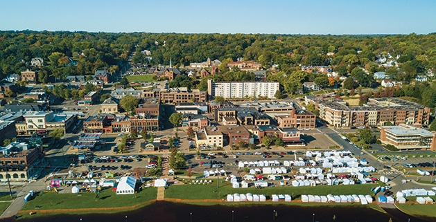An overhead view of the Rivertown Fall Art Festival 2019