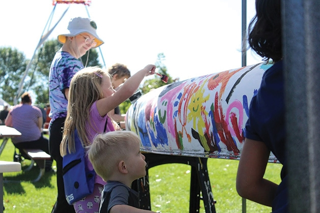 Children paint at the 2019 Spirit of the St. Croix Art Festival