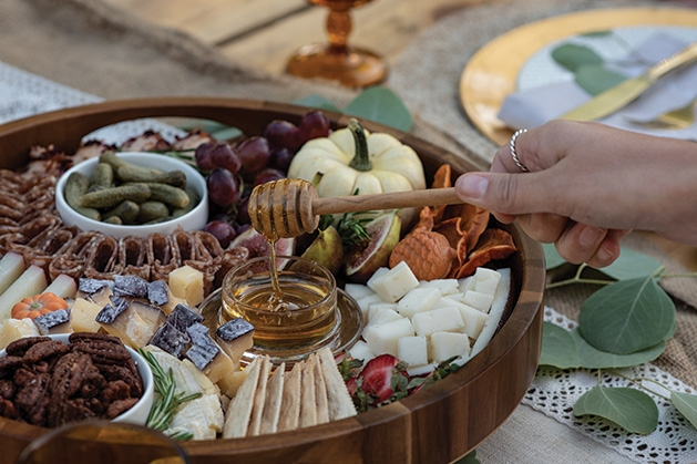 A charcuterie board from The Board Loon.