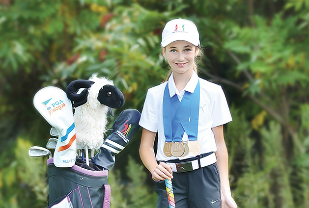 Bella Leonhart, Golf, youth golf, drive chip & putt, 2019 masters, augusta national golf club, golf channel