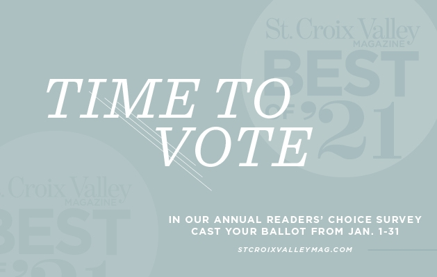 A graphic announcing the Best of St. Croix Valley 2021 contest.