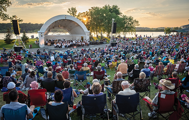 The Minnesota Orchestra plays a Concert in the Park in Hudson.
