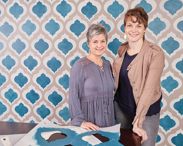 Peg Malanaphy & Kelly Fee of Gypsy Mint Stencil Co.