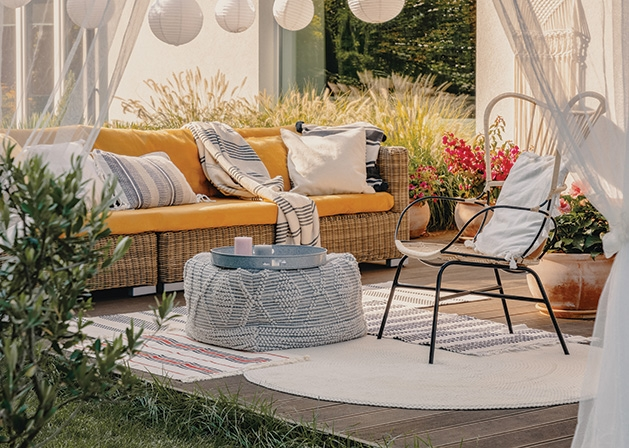 A patio outfitted with outdoor design trends for 2020