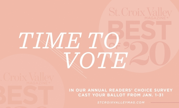 A graphic announcing the 2020 Best of St. Croix Valley Magazine readers' choice survey