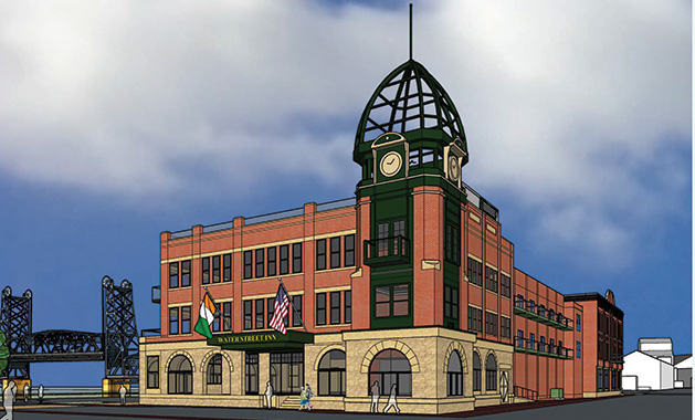 A rendering of the Water Street Inn renovations