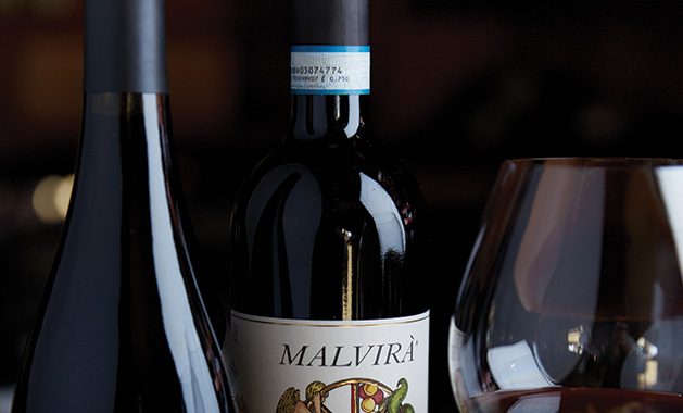 A bottle of J.K. Carriere and Malvira from Domacin Wine Bar.
