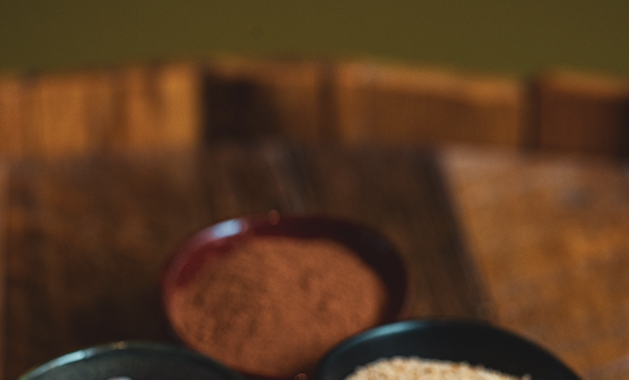 spices in pinch bowls