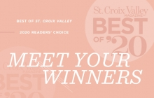 A graphic announcing the St. Croix Valley Magazine Best of St. Croix Valley 2020 winners.