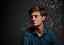Hudson High School student Charlie Neuenschwander, a member of the 2019 Senior Spotlight