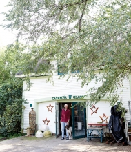 Patrick Casanova, the artist behind St. Croix Valley glass blowing business Casanova Glass, stands in front of his Hudson home.