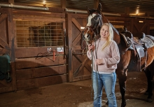 Erin Olsen and her horse, Ace at True North Ranch