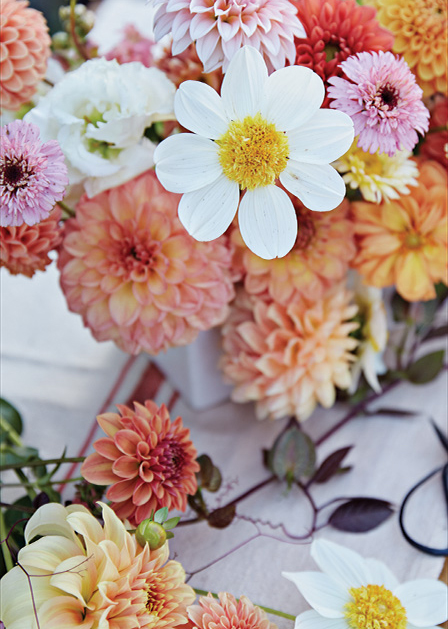 A bouquet by Ashley Fox Designs and Arcola Trail Flower Farms