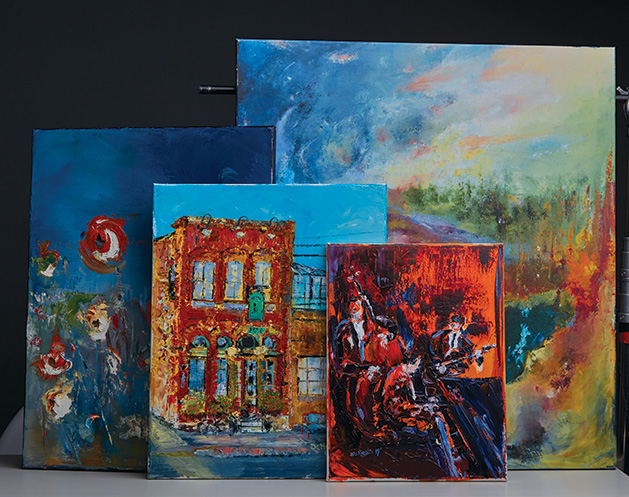 A few of Michael DeMeglio's paintings.