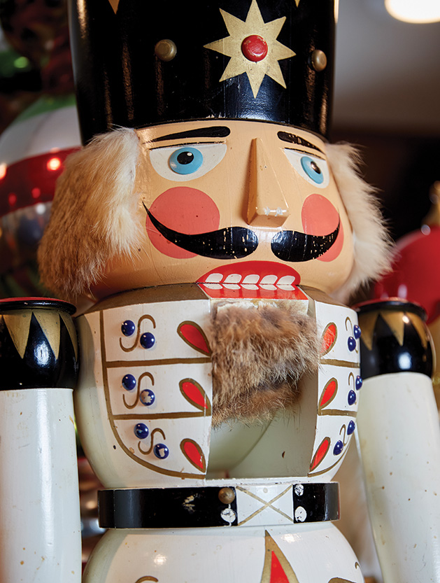 One of the nutcrackers at Lake Elmo Inn