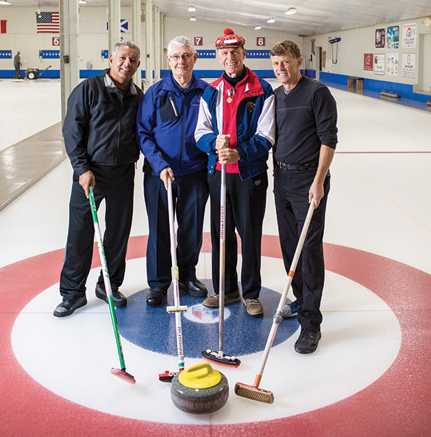 A group of curlers from the St. Croix Curling Center