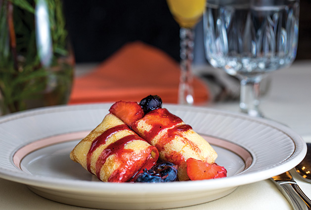 A fruity brunch dish from Lowell Inn