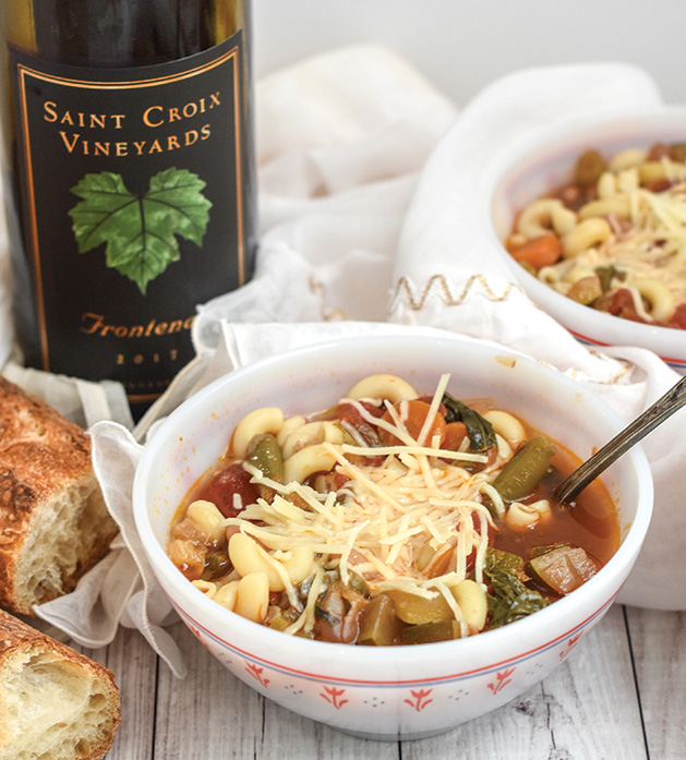 Red wine minestrone made from a recipe by NellieBellie